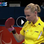 Table Tennis - AUT vs SWE - Women's Singles - Class 3 Gold Mdl Match - London 2012 Paralympic Games